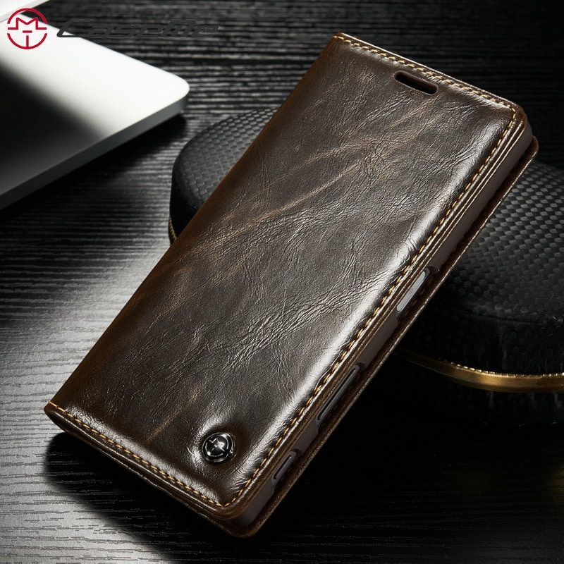 CaseMe Téléphone Cas Pour Sony Z3 Z4 Z5 De Luxe Rétro En Cuir Flip Stand Fente Pour Carte Portefeuille de Couverture Arrière de Cas Pour sony Z3 Z4 Z5