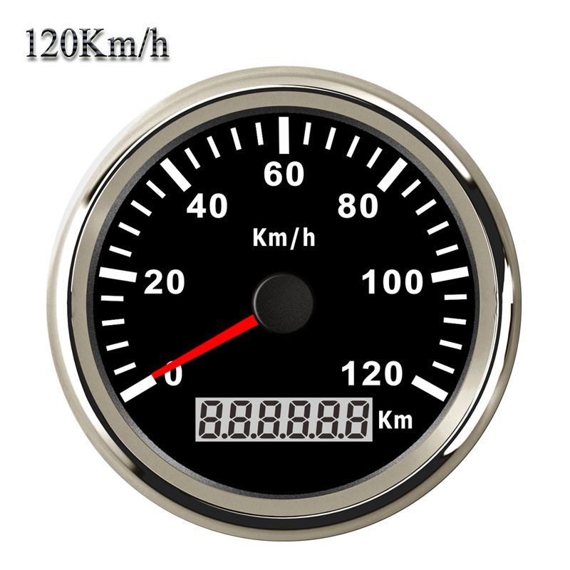 Top-Rated 85mm GPS Speedometer IP67 Waterproof 120KM/H Speed Gauge for Car Truck Boat 12V 24V Stainless Bezel with Backlight