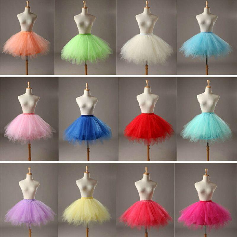 En Stock Multicolor Corto Enaguas de Crinolina De Tul Petticoat Envío Libre 2016 de La Venta Caliente Para La Muchacha Accesorios Baratos De La Boda