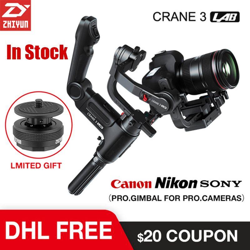 Zhiyun Kran 3 Lab 3 achsen Gimbal Stabilisator für Nikon D850 gimbal dslr kamera Sony A9 A7R Canon 1DX Mark II 5D 6D gh5 PK Kran 2