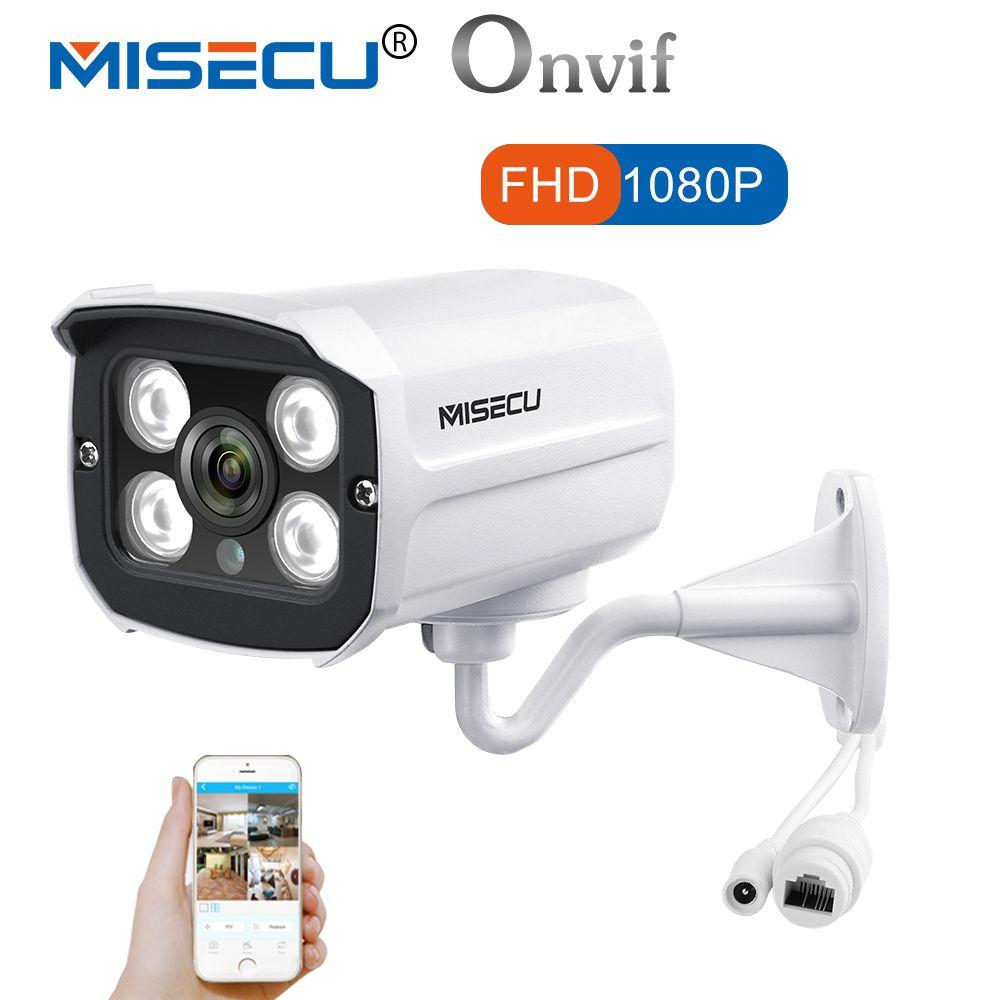 MISECU IP FHD 1080 p 960 p 720 p 4 stück Array Metall Onvif P2P Bewegungserkennung RTSP XMEye 48 v POE Outdoor Wasserdicht Infrarot Nacht IR