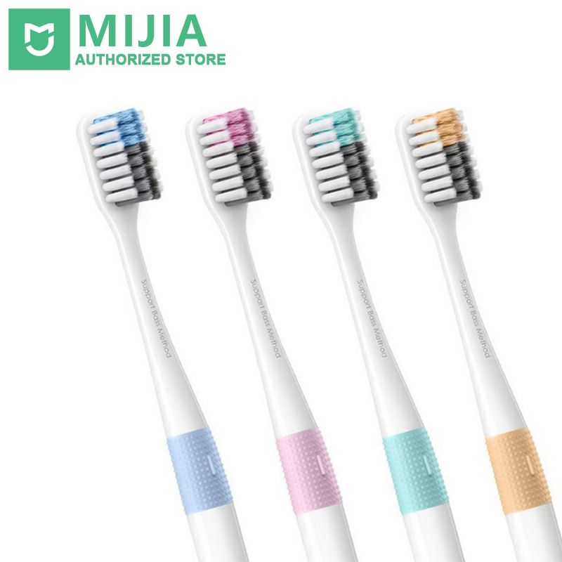Xiaomi Doctor B Teeth brush Bass Method Sandwish-bedded Brush Upgrade Version 4 Color/set Include