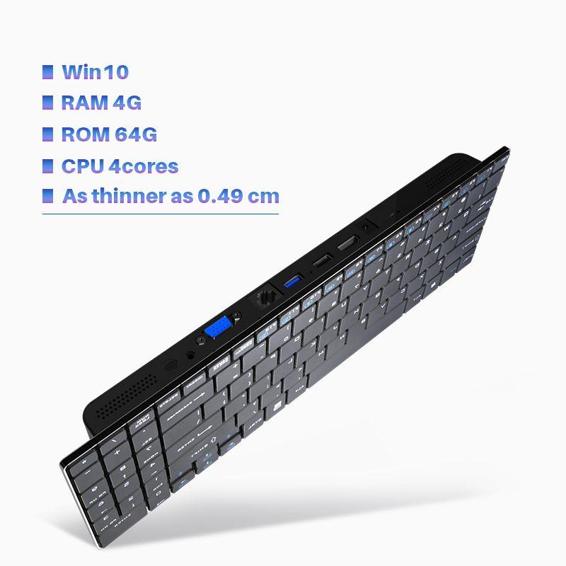 MiniPC Оконные рамы 10 Intel 2.2 ГГц Apollo N345 EMMC HDMI VGA Беспроводной Мышь клавиатура мини шт маленький настольный компьютер офисные мини-ПК
