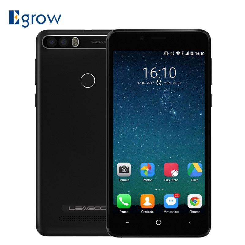 Leagoo Kiicaa Power 5.0 inch 4000mAh Cell phone Android 7.0 MT6580A 2G RAM 16G ROM 8MP Dual Rear Cams Smartphone 3G Mobile Phone