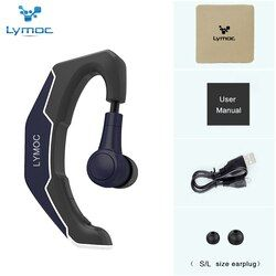 LYMOC Ear Hook Wireless Headsets Bluetooth Earphones Driving Ride Working Sport Earbud Handsfree Headphone Universal for iPhone