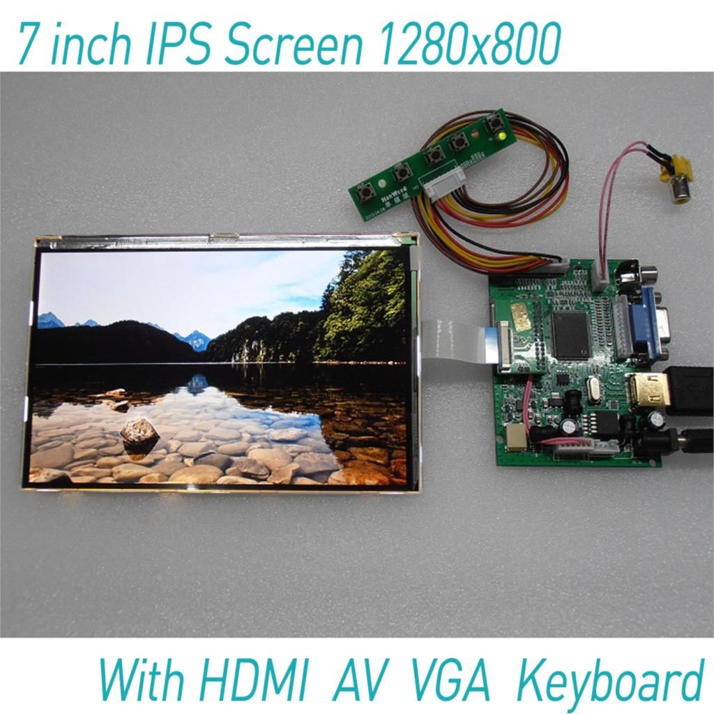 7 inch 1280*800 Raspberry Pi 3 IPS Screen with HDMI VGA AV USB Display LCD Module for Auto Car Rear View Camera Monitors