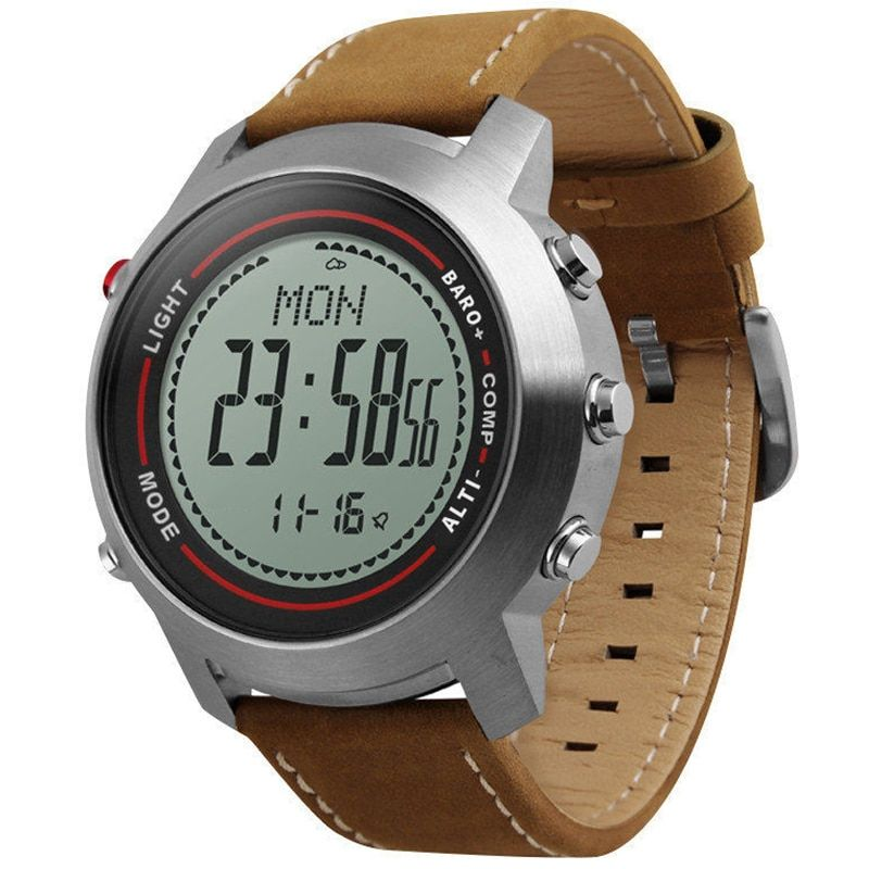 New Men Mountaineer Sports Watches Countdown Compass Barometer Waterproof Digital Wristwatches Clock Male Relogio Masculino 2018