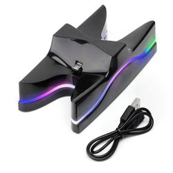 Multi Colors Controllers Charger Stand LED Dual Charger Station Charging Stand Dock for PlayStation 4 PS4 Controller Console