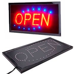 New Bright Animated Motion Running Neon LED Business Store Shop OPEN Sign with Switch US plug