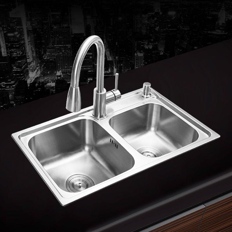 680*390*220mm 304 edelstahl gebürstet nahtlose unterbau küche waschbecken set drei schüssel Zeichnung abtropffläche Handgemachte schweißen waschbecken