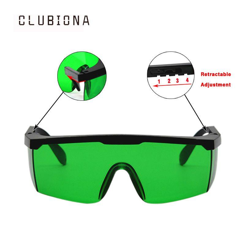 Cadre télescopique de bonne qualité sans bavure spécial pour les lignes laser rouges et vertes lunettes de protection pour les yeux