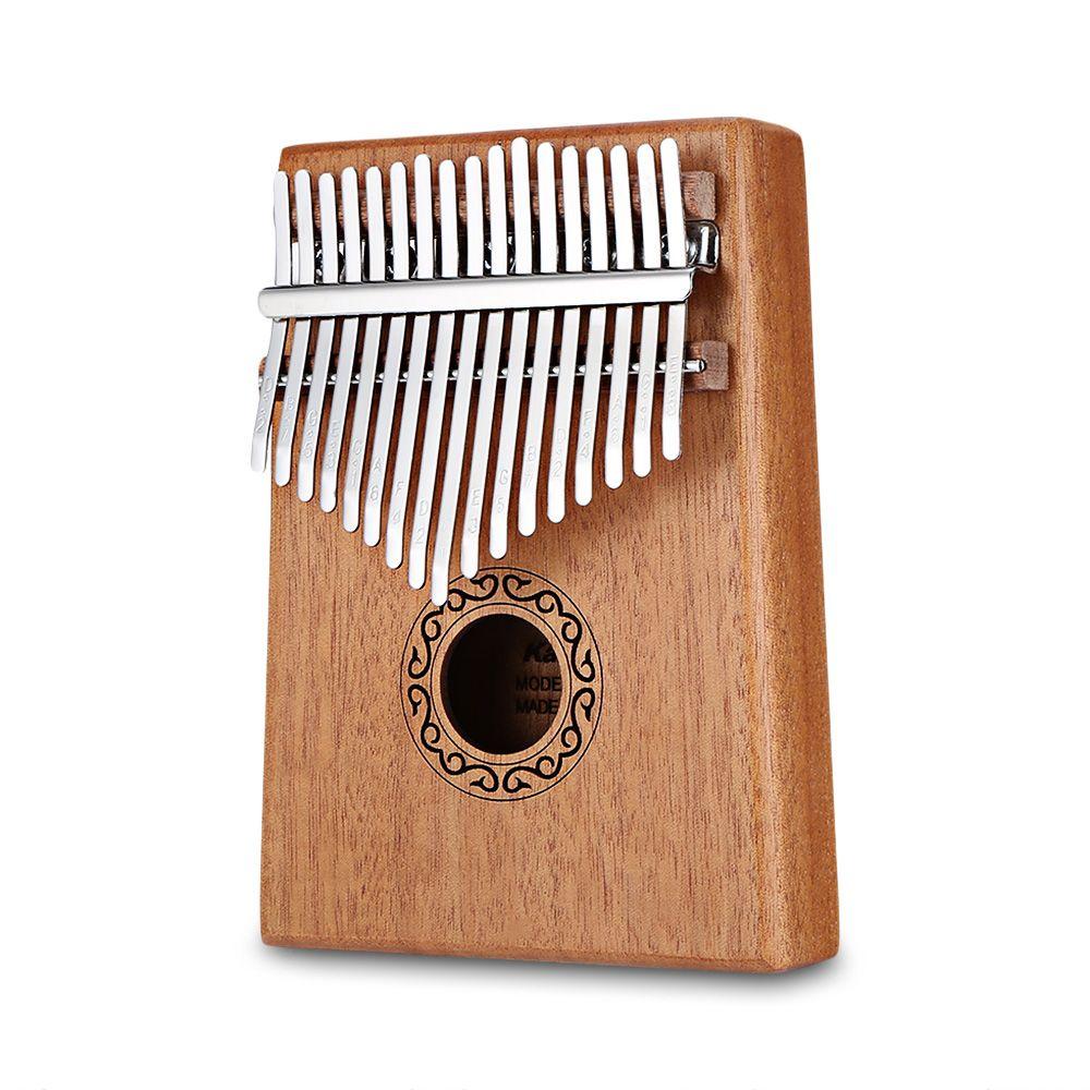 W-17 T 17 Touches Kalimba Piano à pouces Bois Acajou Corps Instrument de musique Avec livre d'apprentissage de Haute Qualité Air Marteau