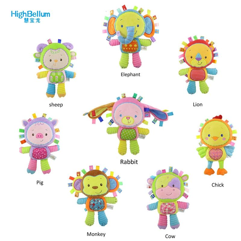New Arrival Baby Toy Comforting Doll With Bb Rattles Toys For Baby 0-13 Years Baby Play Toy Appease Dolls HB Baby