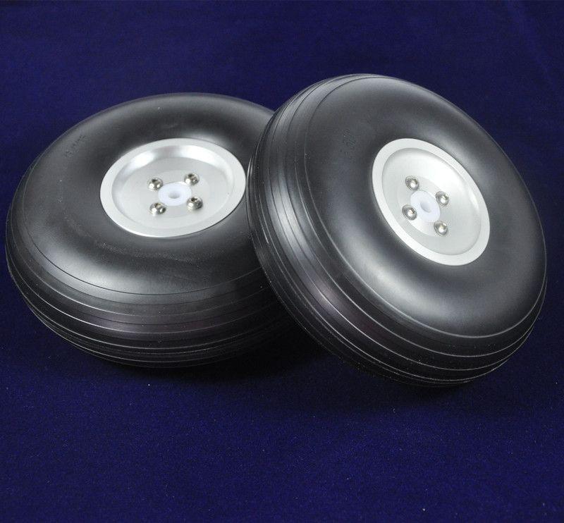 1 paire de roue en polyuréthane d'avion RC 5