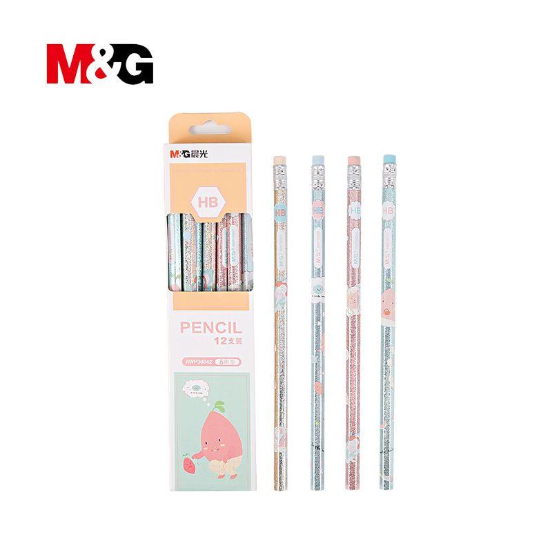 M & G Mignon Kawaii Bois Crayon HB Standard Crayons Pour Dessin Peinture Fournitures 12 pcs/lot artiste accessoires crayon pour vêtements