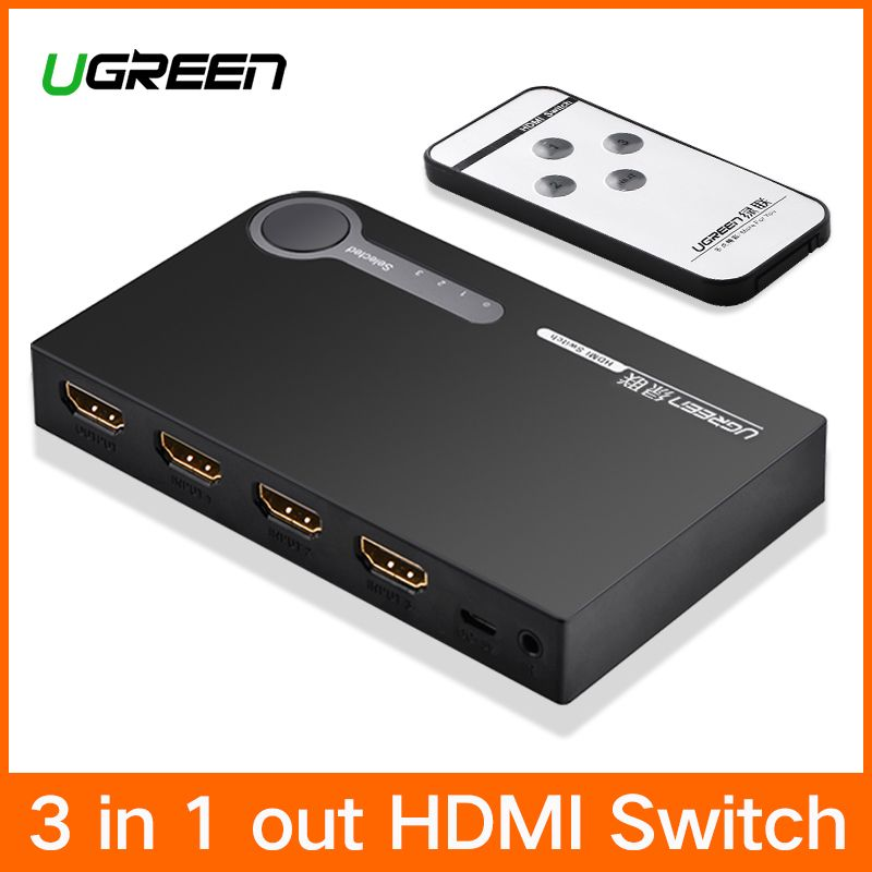 Ugreen HDMI Splitter 3 Port HDMI Switch Switcher HDMI Port 1080P 3 Input 1 Output 4K Adapter for XBOX 360 PS3 PS4 Android HDTV