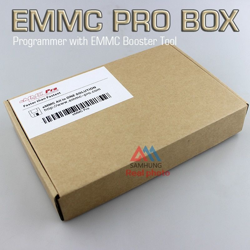 Full set with retail box Original EMMC Pro box device programmer with EMMC Booster Tool cable all in one solution agent