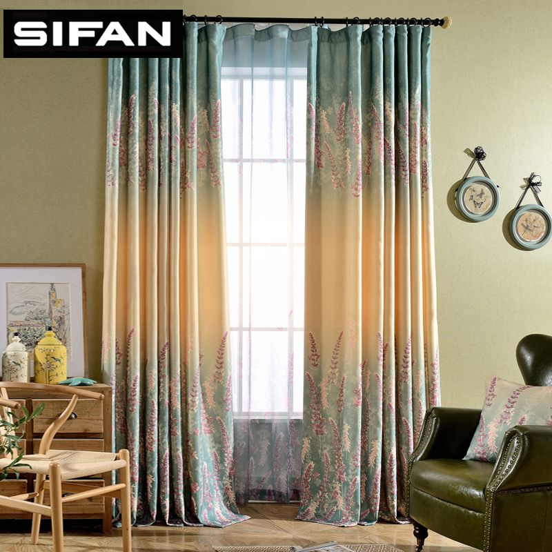 Lavande fantaisie rideaux de fenêtre pour la chambre à coucher pour salon décoratif moderne rideaux rideaux Tulle prêt à l'emploi