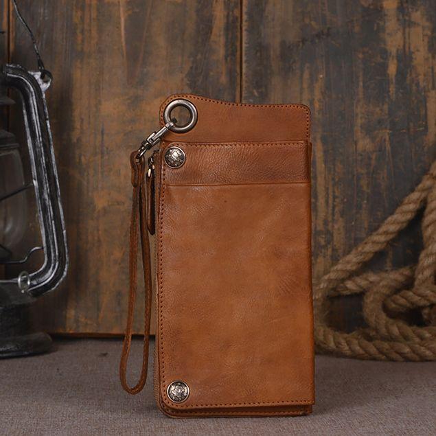 2 Farbe Original Handgefertigte Echtes Leder-mappen-kasten Für Universl Telefon Vollnarbenleder Vintage Leder Handytasche Für iPhone7/6