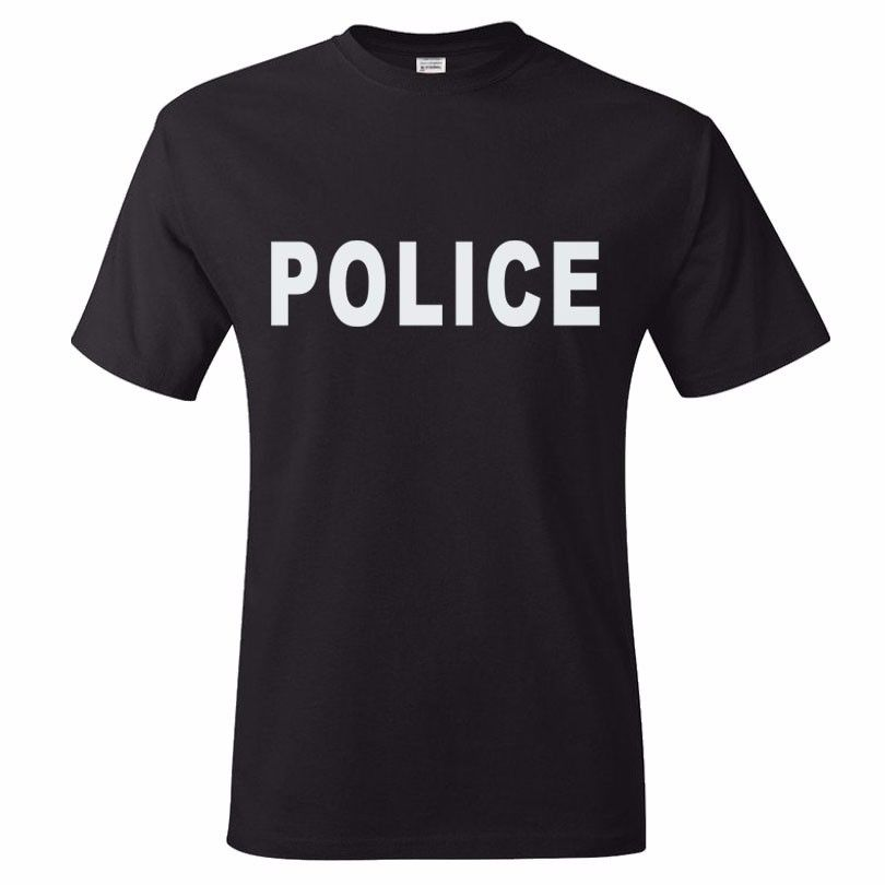 Sheriff Event Bouncer Party Guard T-Shirt Special Force Military POLICE T Shirts Men Summer Cotton Short Sleeve O Neck Tops Tees