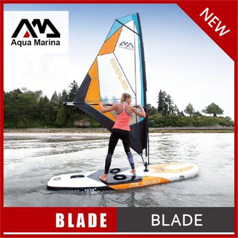 330*80*15 cm AQUA MARINA KLINGE aufblasbare sup board mit segel sailboard stand up paddle board surf board surfbrett kajak A02003