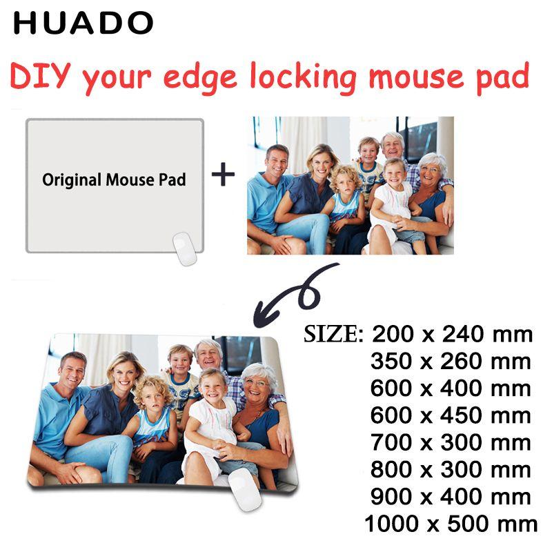 Tapis de souris personnalisé xl gamer grande bordure de verrouillage clavier d'ordinateur tapis de souris de jeu de Table