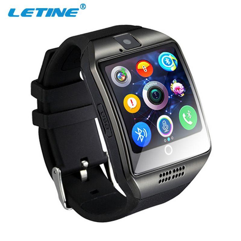 Letine Q18 Deporte Pantalla Táctil Smart-Teléfono Del Reloj Mujeres de Los Hombres Reloj de Pulsera reloj Teléfono Celular con Cámara de SIM para iOS Android PK DZ 09