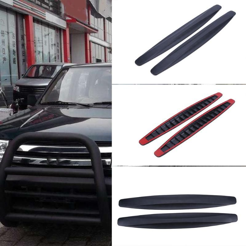 2Pcs Car Auto Bumper Protector Corner Guard Anti-Scratch Strips Splitter Body Kit Bumpers Valance Chin Accessiories Car Styling
