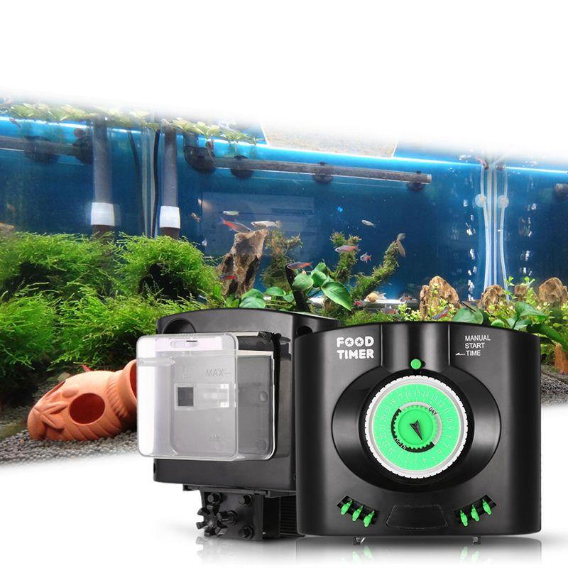Aquarium Fish Tank Pratique Automatique Aliments Pour Poissons Minuterie L'installation D'alimentation Électronique Aquarium Alimentaire Livraison Fournir Distributeur