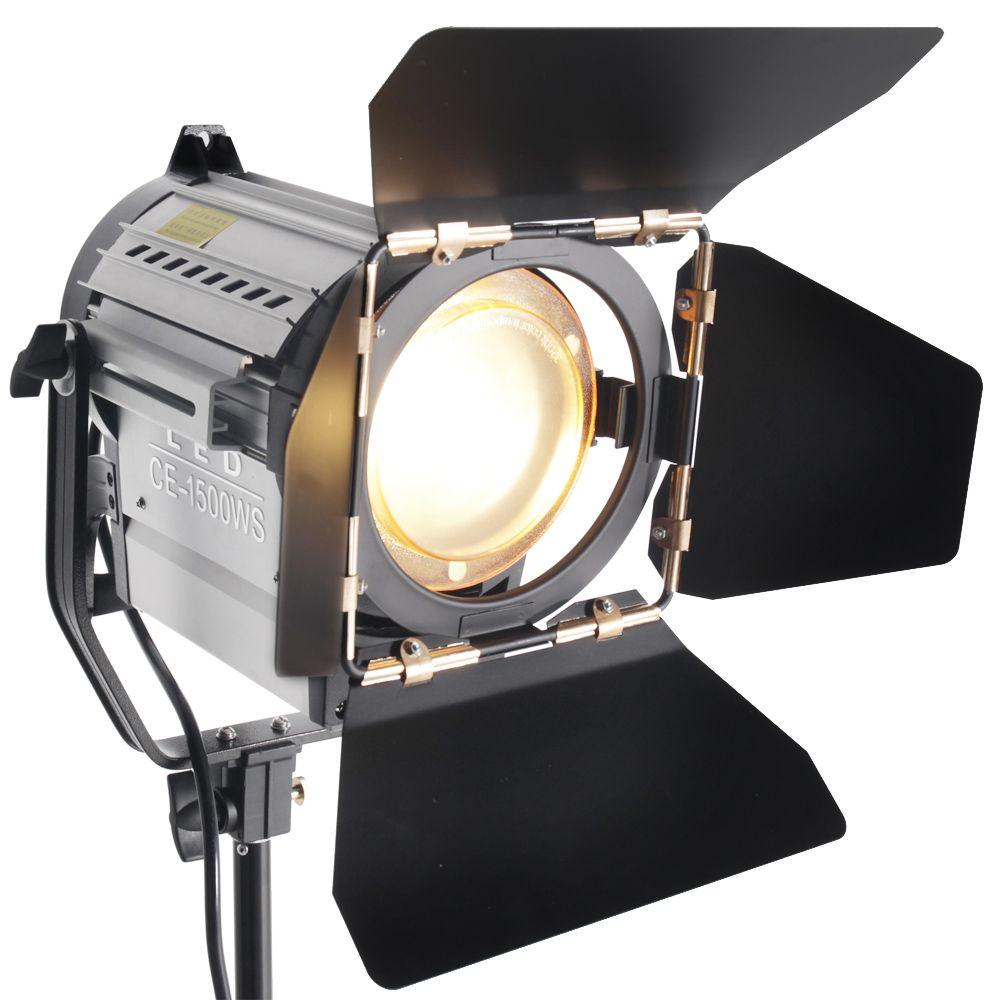 ASHANKS 150W LED Spot Light Wireless Dimmable Bi-color Spotlight Studio Fresnel LED Light 3200-5500K for Photo Video Lighting