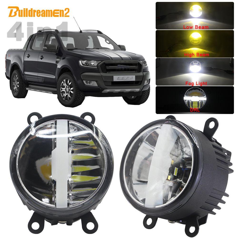 4in1 Funktion Auto 30W LED Lampe Nebel Licht Scheinwerfer Fernlicht Abblendlicht DRL Mit Kabelbaum 5000LM 12V Für Ford Ranger 2005-2015
