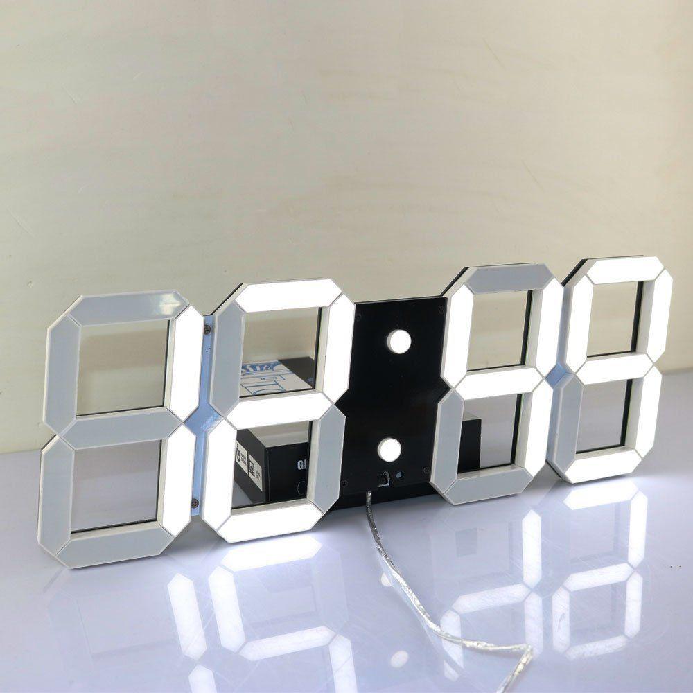 Super grandes horloges murales numériques LED réveil compte à rebours télécommande surdimensionné Jumbo numéro LED affichage Snooze