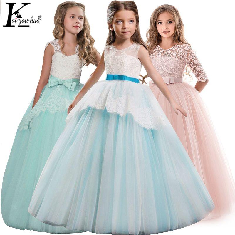 Robe d'été Élégant Enfants Robes Pour Filles Vêtements Robes Filles Robe Les Adolescents De Mariage Robe 5 6 7 8 9 10 11 12 13 14 ans