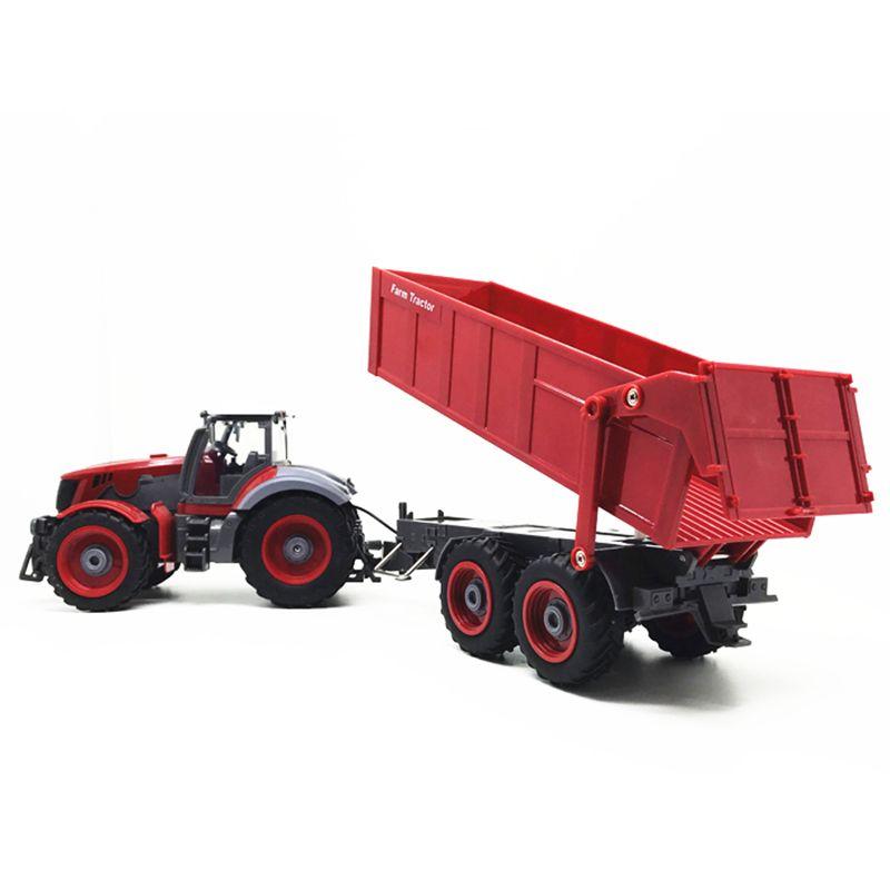 Landwirt Traktor auto 1:28 2,7 MHZ Radio Remot Steuerung Konstruktion RC auto Dump lkw Für Kinder geburtstag Geschenke Spielzeug