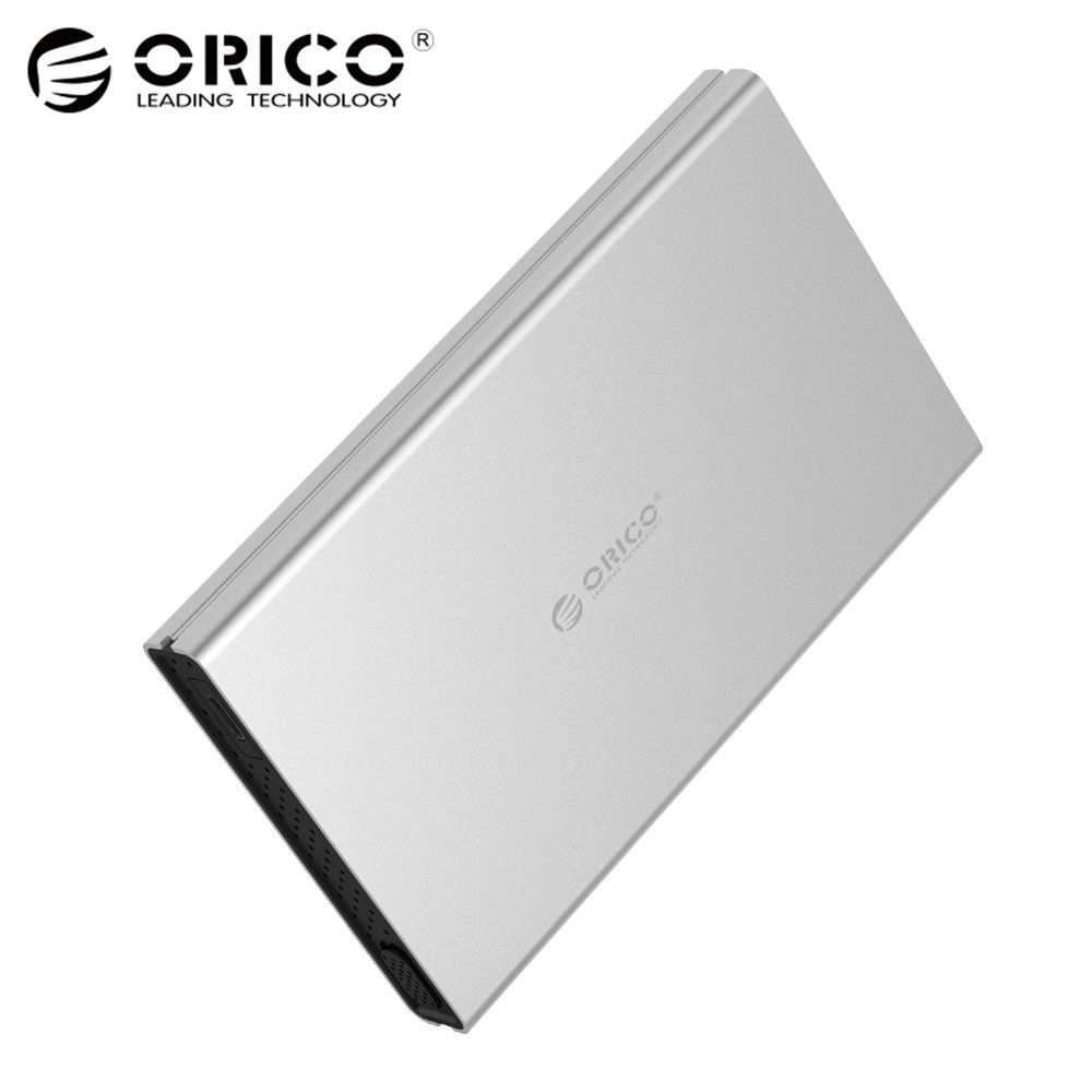 ORICO HDD Enclosure USB3.0 / Type-C to SATA3.0 <font><b>Tool</b></font> Free Aluminum HDD Case Support UASP for 2.5 inch SATA HDD/SSD