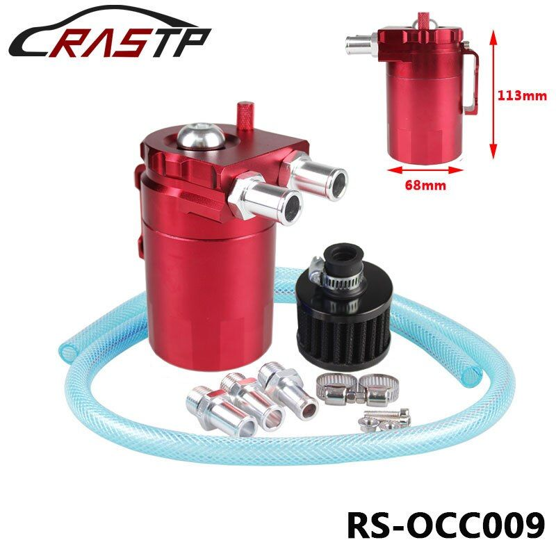 Oil Catch Tank Racing Oil Tank /Oil Catch can Polished Oil Reservoir Catch Can Tank With Breather Filter RS-OCC009
