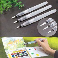 3 Pcs/lot Lembut Sikat Tinta Pena Warna Air Kaligrafi untuk Pemula Lukisan Dapat Digunakan Kembali S M L Marker Pen Kuas Cat