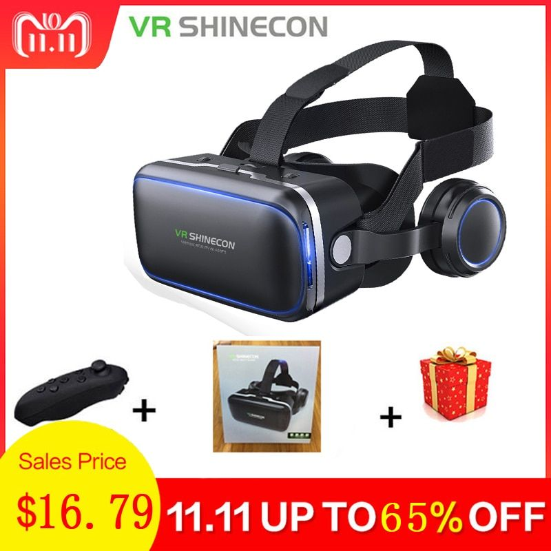 Shinecon Casque VR Virtual Reality Glasses 3 D 3d Goggles Headset Helmet For Smartphone Smart Phone Google Cardboard Stereo