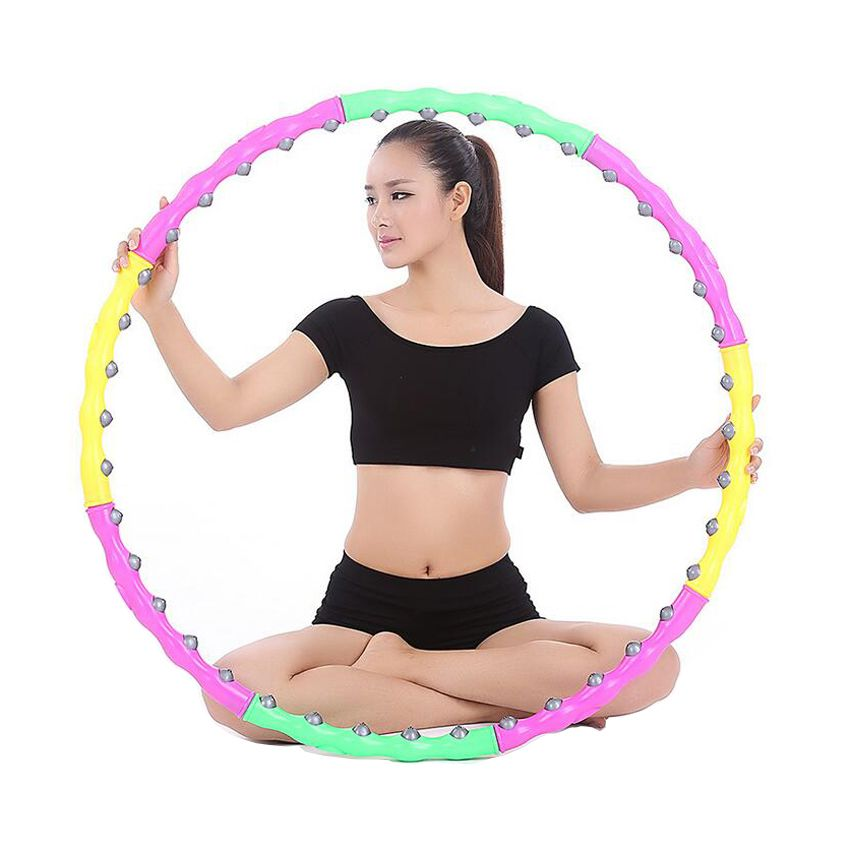 0.8KG Fitness Hula Hoop Detachable Magnetic Massage Magic Hula Hoop for Weight Loss Keep Fit Body Building and Shaping to Waist