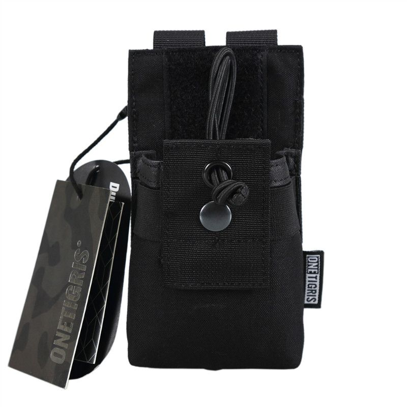 OneTigris Tactical MOLLE Radio Walkie <font><b>Talkie</b></font> Pouch for BaoFeng UV-5R BF-F8 UV-82 Airsoft Paintball Hunting Carry Pouch Nylon