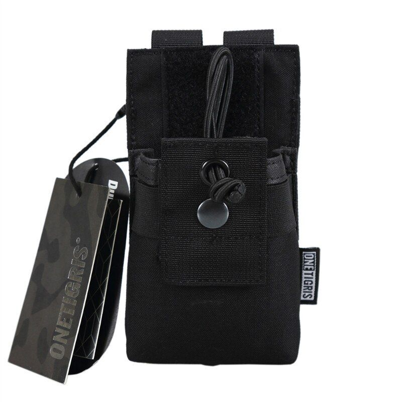 OneTigris <font><b>Tactical</b></font> MOLLE Radio Walkie Talkie Pouch for BaoFeng UV-5R BF-F8 UV-82 Airsoft Paintball Hunting Carry Pouch Nylon