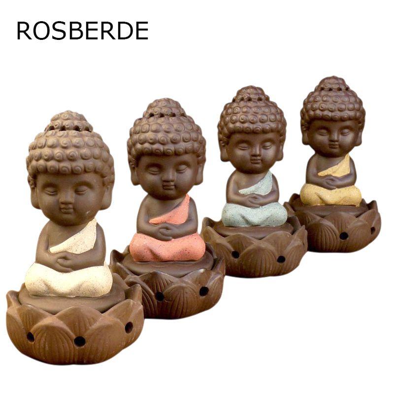 2017 En Céramique Budda brûleur D'encens poêle disque encens de bois de santal encens Home Decor bobine Bouddha ornements