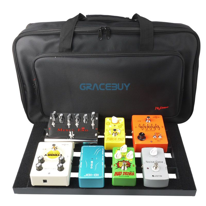 Guitar Pedal Board Setup Bigger Style DIY Guitar Pedalboard With <font><b>Magic</b></font> Tape Musical Instrument Accessory New