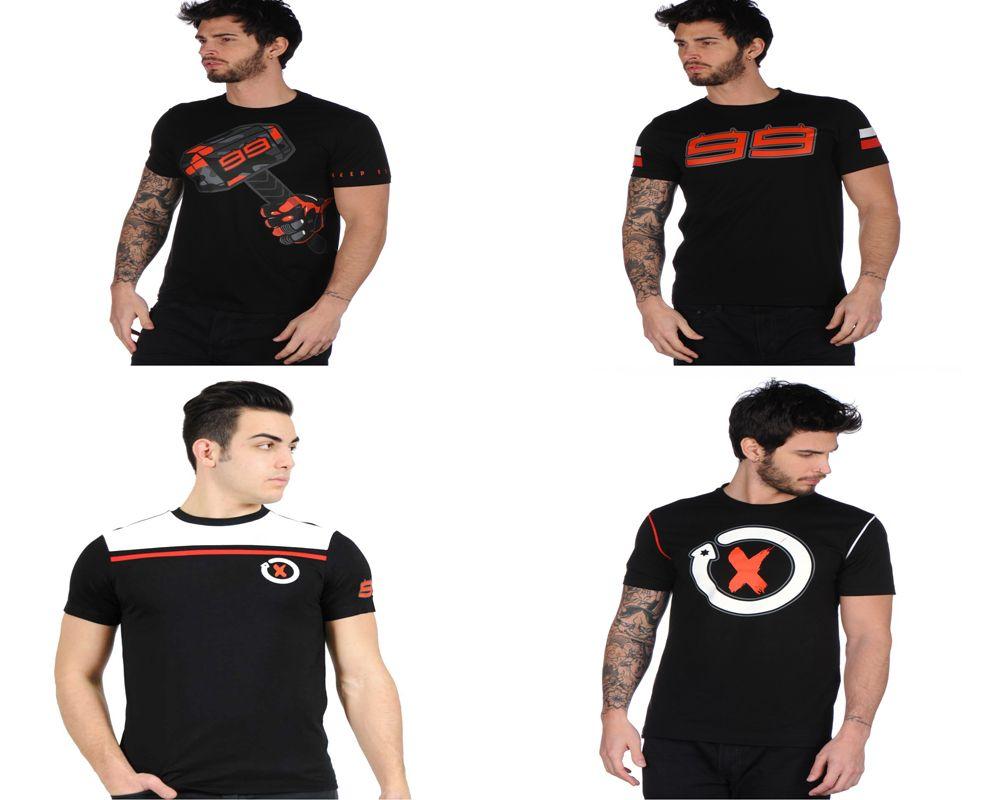2017 Jorge Lorenzo 99 Moto GP Hammer T-shirt Sports Motorcycle Men's Black Summer T shirt
