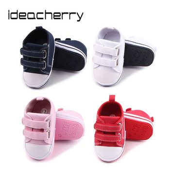 ideacherry Brand Spring Autumn New Double-row Hook&Loop Baby Toddler Shoes Rubber Sole Baby Shoes Baby First Walker Hot Sale