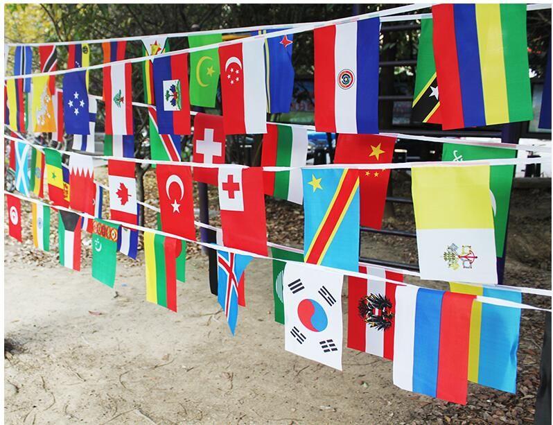 Drapeau à cordes 20*30 cm 100 pays à travers le monde drapeau des nations petit drapeau, drapeaux suspendus