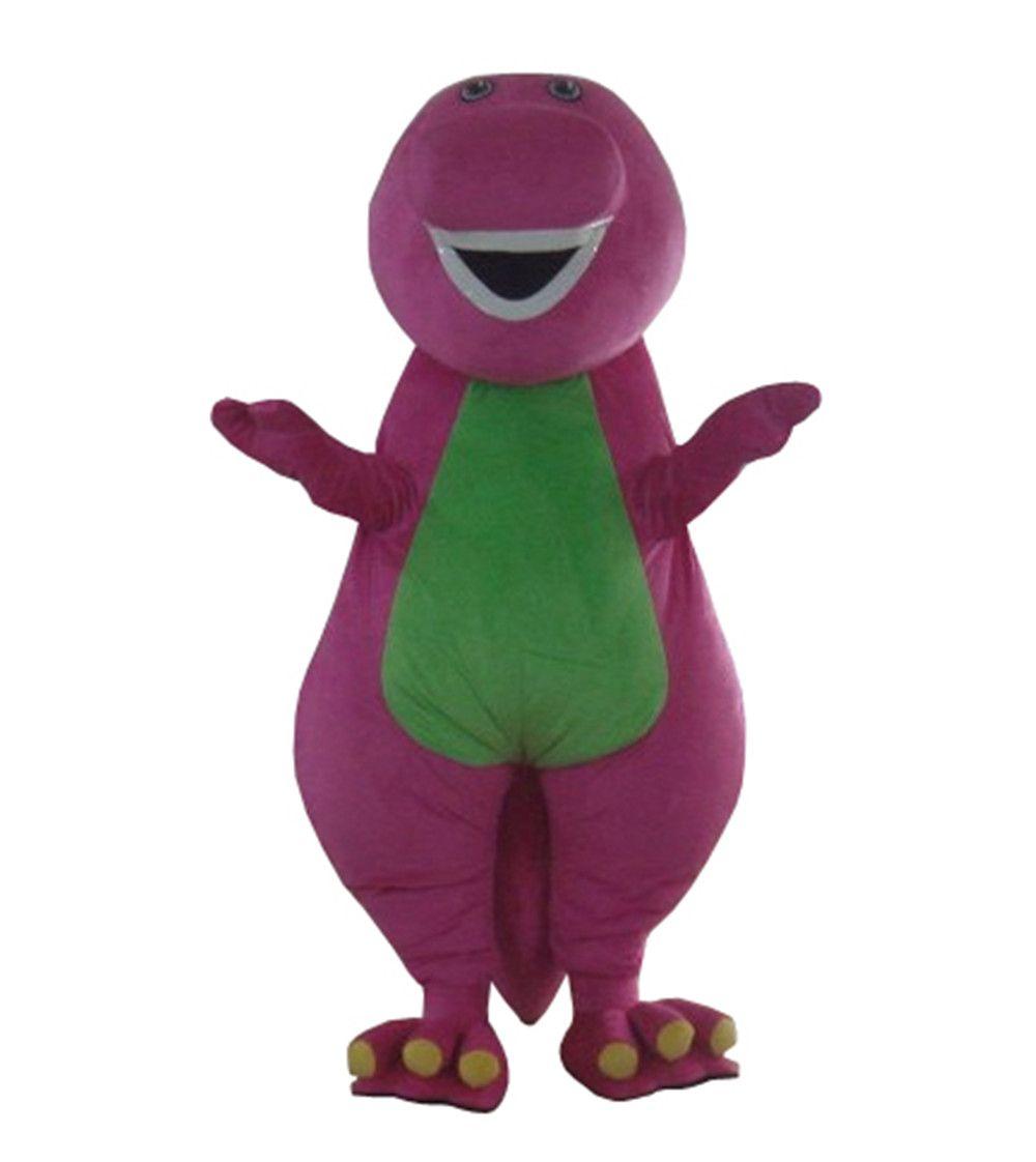 Hohe qualität Erwachsene Barney Cartoon Maskottchen Kostüme cosplay kostüm auf Erwachsene Größe Geben Verschiffen Frei