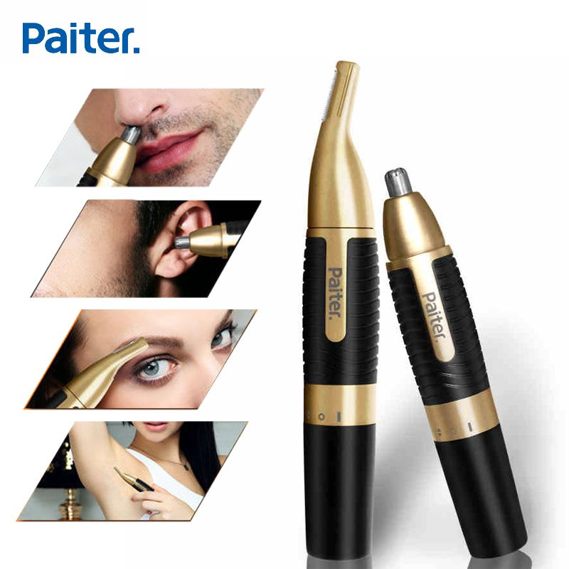 Paiter Men Electric Nose Trimmer for Nose Ear Sideburns Beard Hair Shaving Scissors Scraping Women Eyebrow Shaping <font><b>Clip</b></font> Device