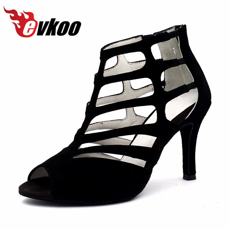 Top Quality Evkoodance professional dance Boots shoes Leather Sole female Latin Salsa Ballroom Dance Shoes For Women Evkoo-467