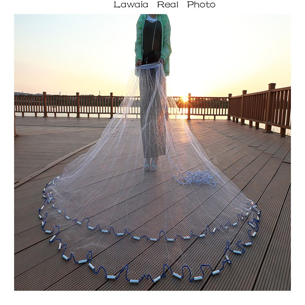 Lawaia 2.4m-7.2m Fishing-net 3m Fishing Net American Sign Cast Network Hand Net Network Net <font><b>Folding</b></font> Network